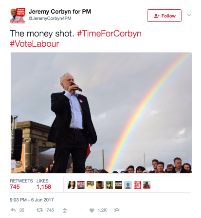 jeremy corbyn money shot labour GE17 fail