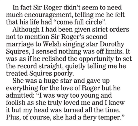 daily express roger moore