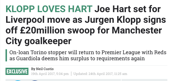 joe hart balls liverpool