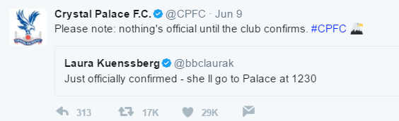crystal palace twitter theresa may
