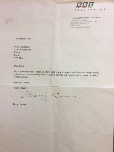 barry norman letter funny