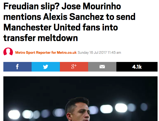 clickbait manchester united arsenal