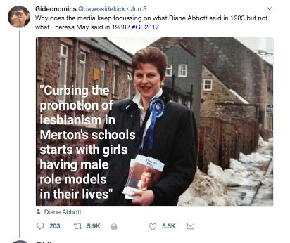 diane abbott lesbians troll