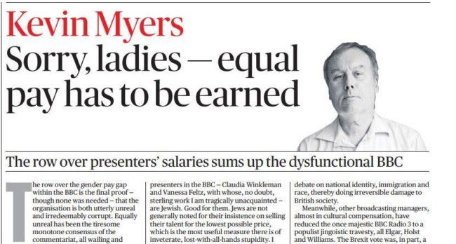 Sunday Times Kevin Myers Jews