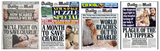 daily mail charlie gard covers