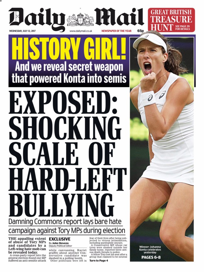 Johanna Konta tennis daily mail