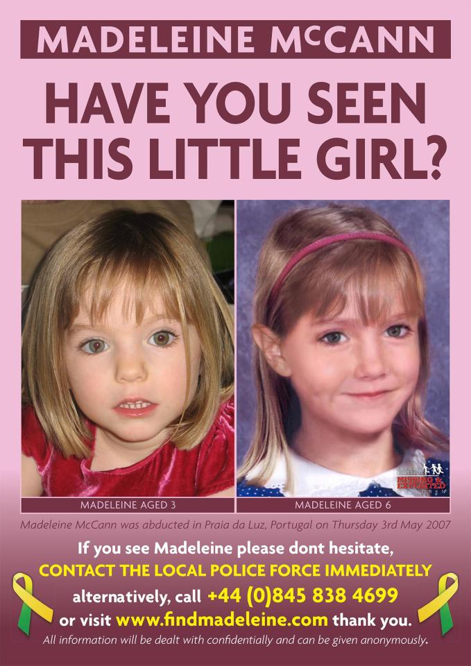 posters maddy mccann madeleine