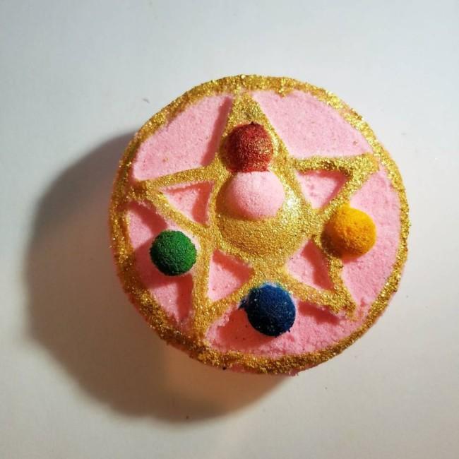 Pentagram bath bomb