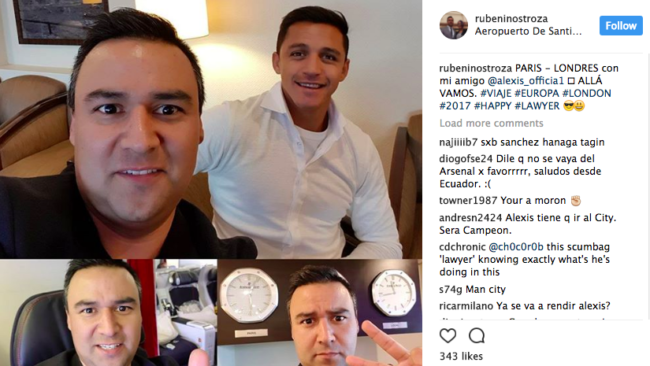 alexis sanchez agents Paris