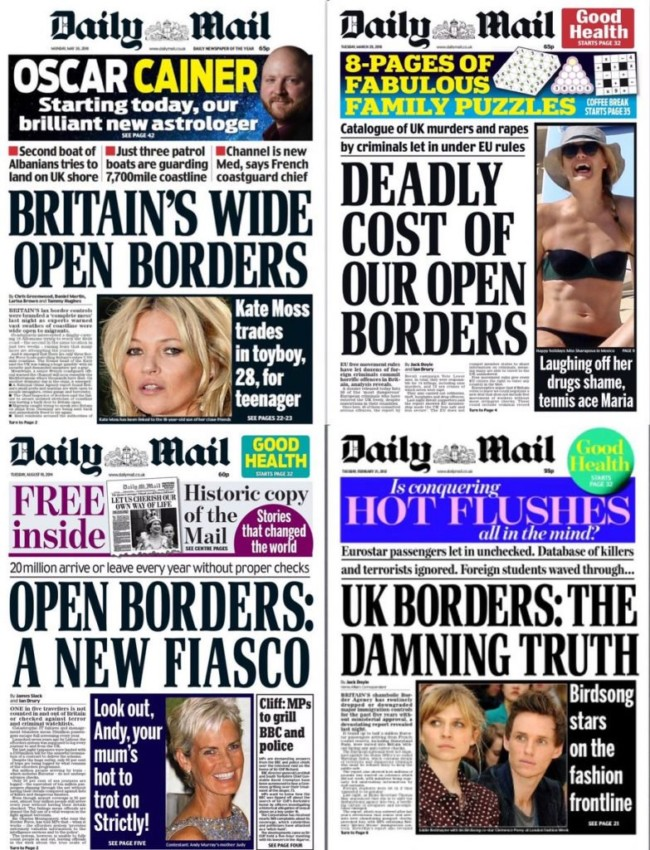 daily mail borders