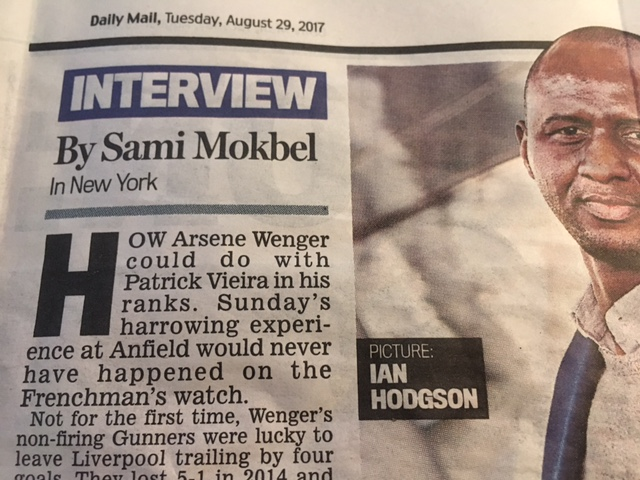 sami mokbel arsenal daily mail