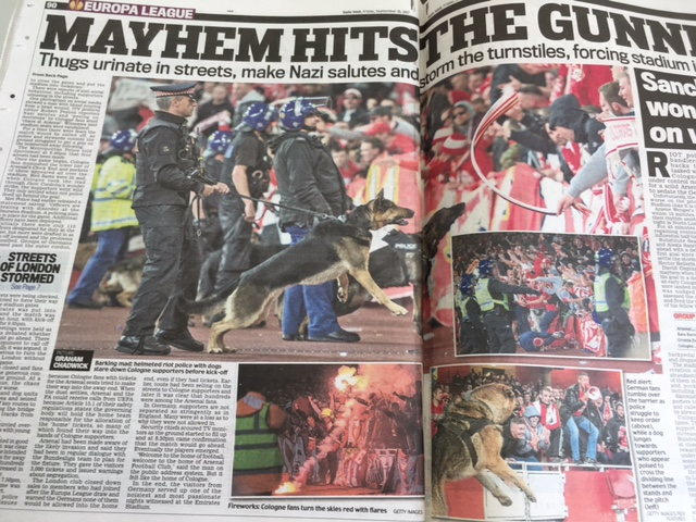 daily mail arsenal europa cologne
