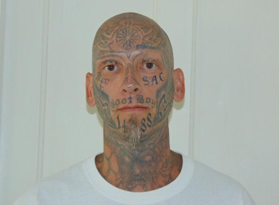 Eric Judkins tattoo mug shot