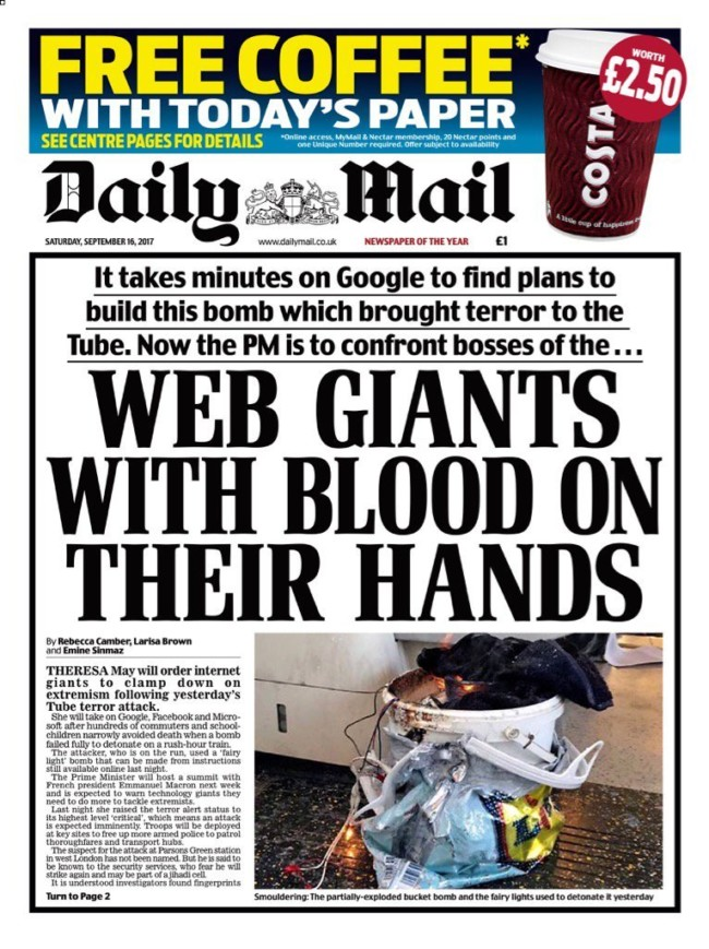 ISIS Parsons green Lidl daily mail google