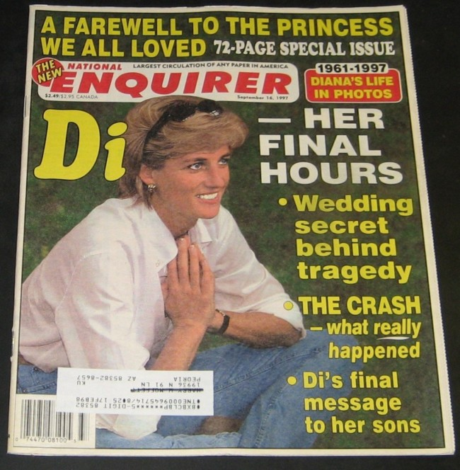 National Enquirer September 16, 1997- Princess Diana 1961-1997