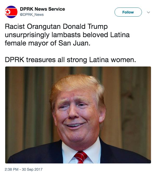 North Korea calls Donald Trump a racist orangutan