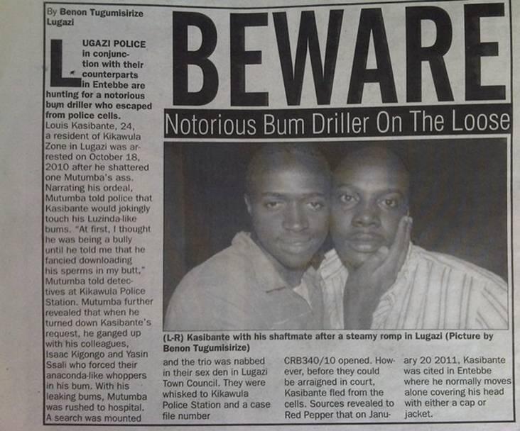 uganda gay bum driller red pepper