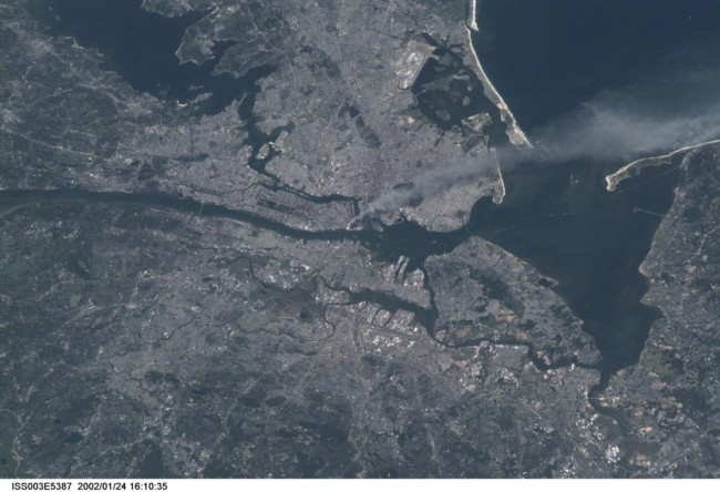 "On September 11, 2001, astronaut Frank Culbertson saw the destruction of New York City's Twin Towers from the International Space Station. He wrote: ""It's horrible to see smoke pouring from wounds in your own country from such a fantastic vantage point. The dichotomy of being on a spacecraft dedicated to improving life on the earth and watching life being destroyed by such willful, terrible acts is jolting to the psyche, no matter who you are."""