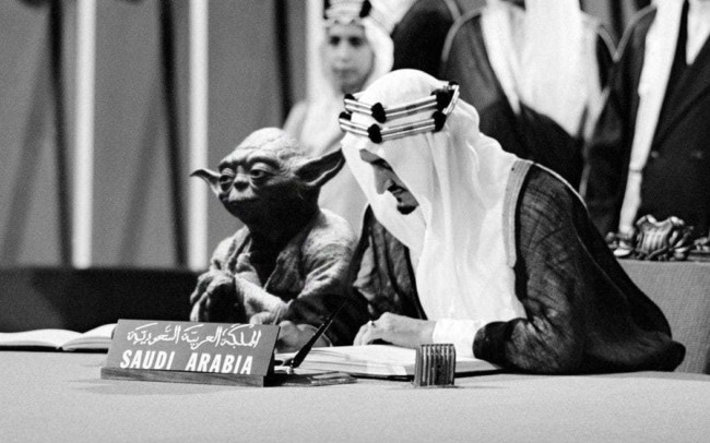 yoda saudi king star wars