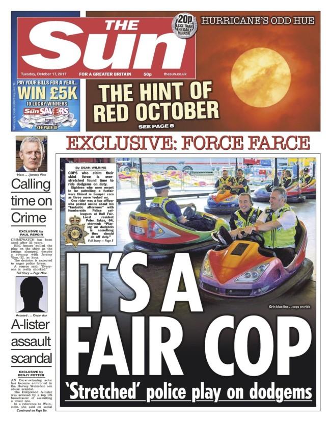 Hull police the sun