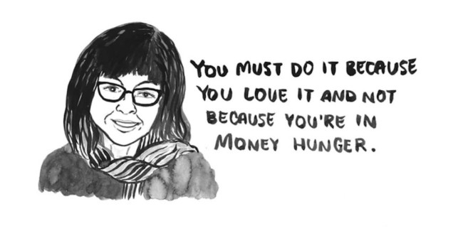 Illustrations of the People Who Want You to Work For Free art Emmie Tsumura