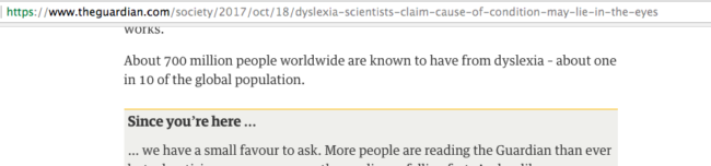 The Guardian error dyslexia