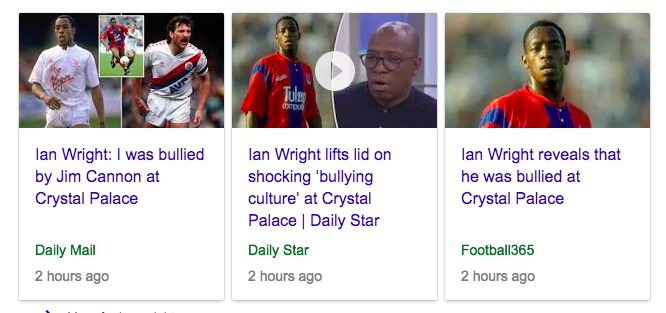 ian wright bullying