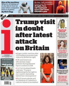 Trump tweets britain first