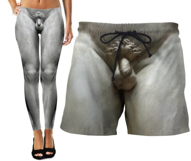 shorts michelangelo trunks david