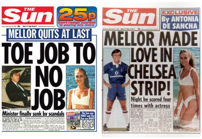 david mellor newspapers sex
