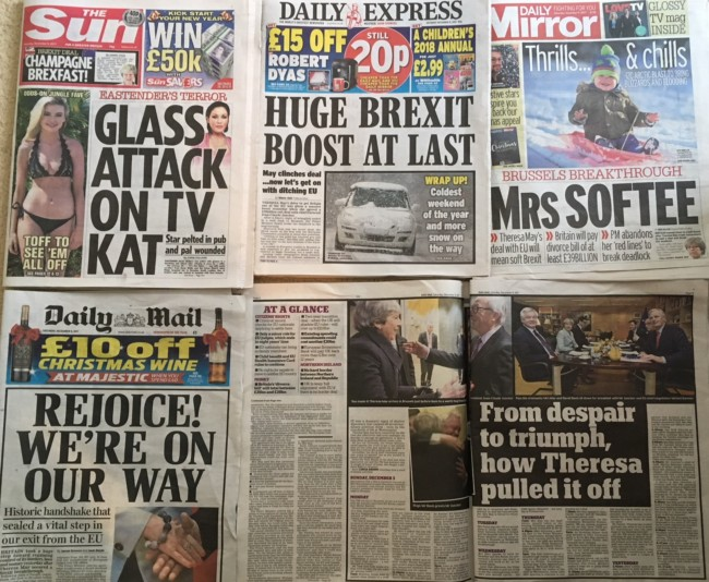 eu brexit newspapers