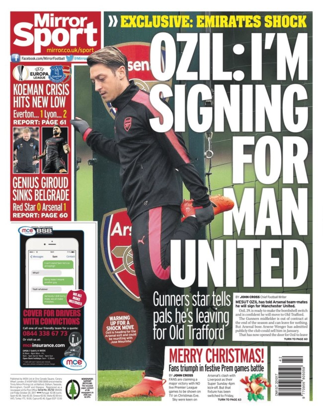 Mirror ozil leaves