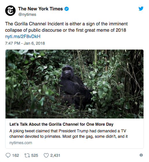 donald trump gorilla channel
