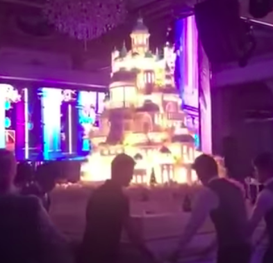 Kazakh oligarch's $179,000 wedding cake doubles as a starter home