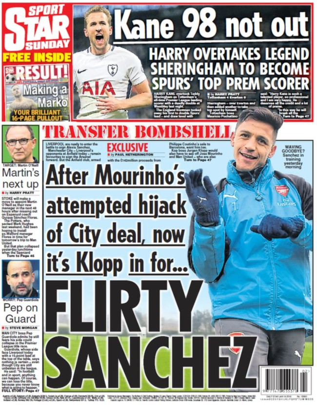 liverpool sanchez daily star