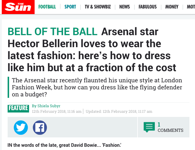 By Shiela Subyr the sun fashion football