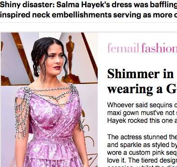 Salma Hayek daily mail horror