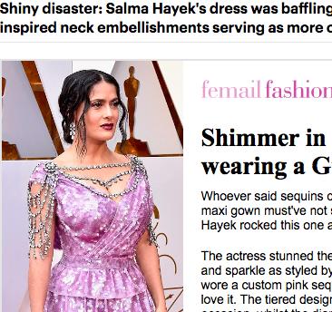 Salma Hayek daily mail horror