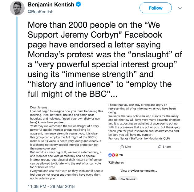 facebook Jews Corbyn