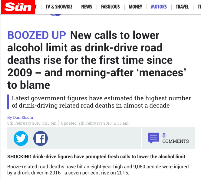drink driving the sun