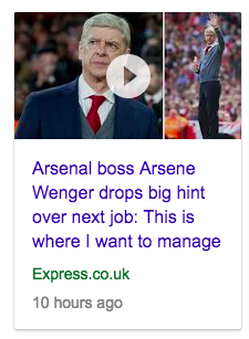 arsenal wenger express