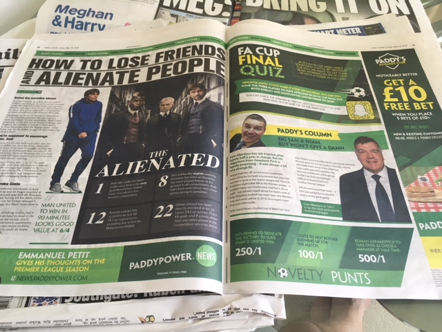 betting adverts tabloids