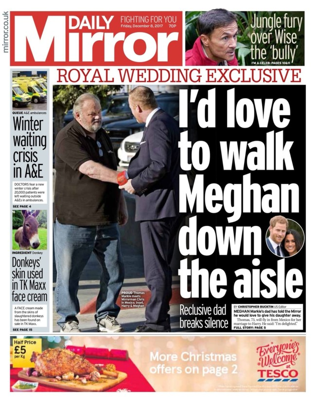 thomas markle photos newspapers
