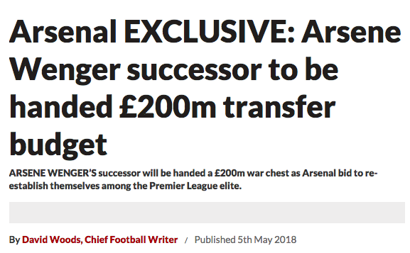 wenger arsenal transfer budget