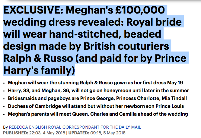 daily mail meghan dress