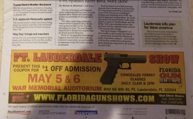 parkland guns ad sun sentinel