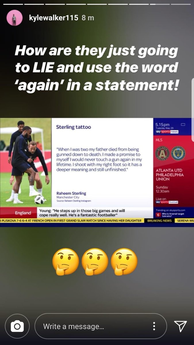 raheem sterling apology guns again sky