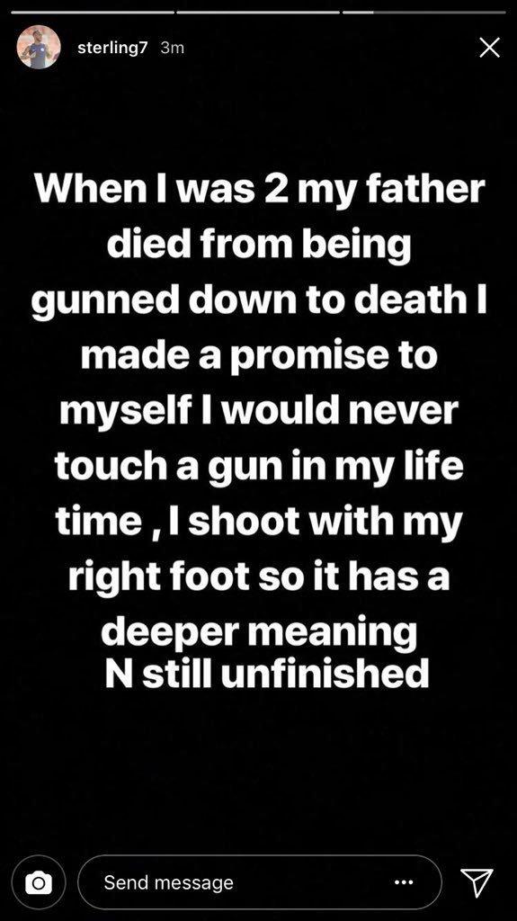 Raheem STerling apology guns