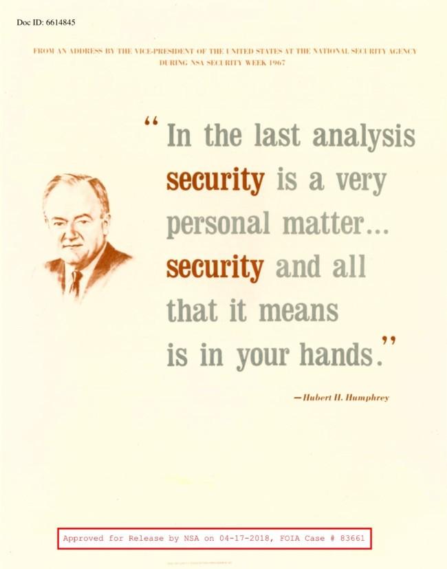 Vintage NSA posters