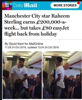 raheem sterling plane